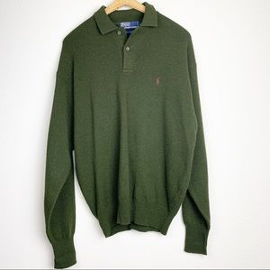 Polo By Ralph Lauren Green Lambswool Sweater